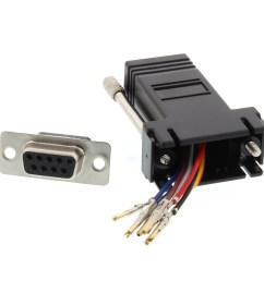 picture of modular adapter kit db9 female to rj45 black [ 3200 x 2400 Pixel ]