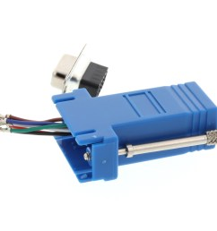 picture of modular adapter kit db9 female to rj45 blue  [ 3200 x 2400 Pixel ]