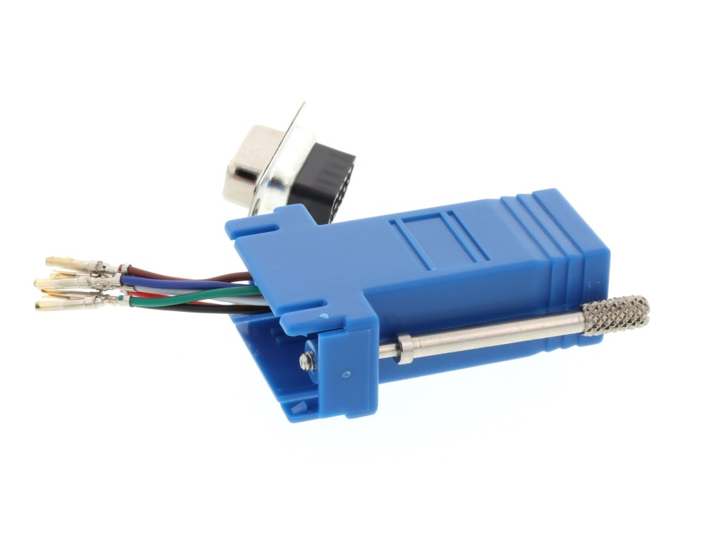 medium resolution of  picture of modular adapter kit db9 female to rj45 blue