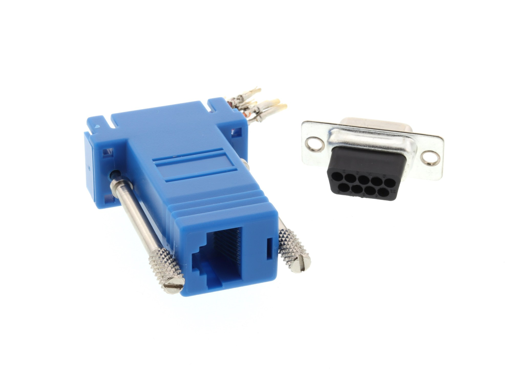 hight resolution of  picture of modular adapter kit db9 female to rj45 blue