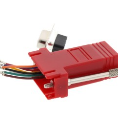 picture of modular adapter kit db9 female to rj45 red  [ 3200 x 2400 Pixel ]