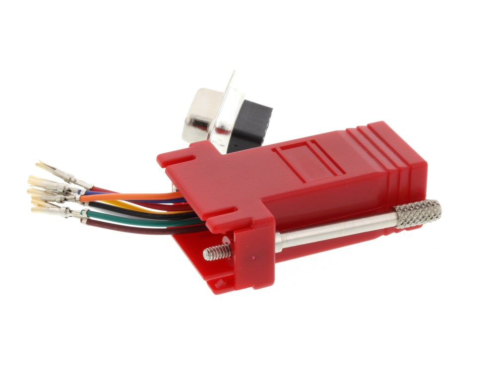 medium resolution of  picture of modular adapter kit db9 female to rj45 red