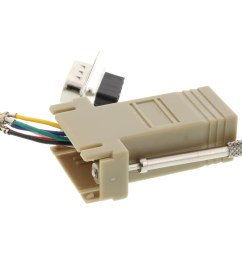 picture of modular adapter kit db9 male to rj11 rj12 beige  [ 3200 x 2400 Pixel ]