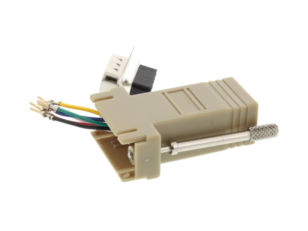 medium resolution of  picture of modular adapter kit db9 male to rj11 rj12 beige