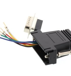 picture of modular adapter kit db15 male to rj11 rj12 black  [ 3200 x 2400 Pixel ]