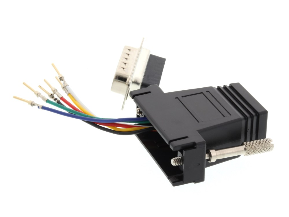 medium resolution of  picture of modular adapter kit db15 male to rj11 rj12 black