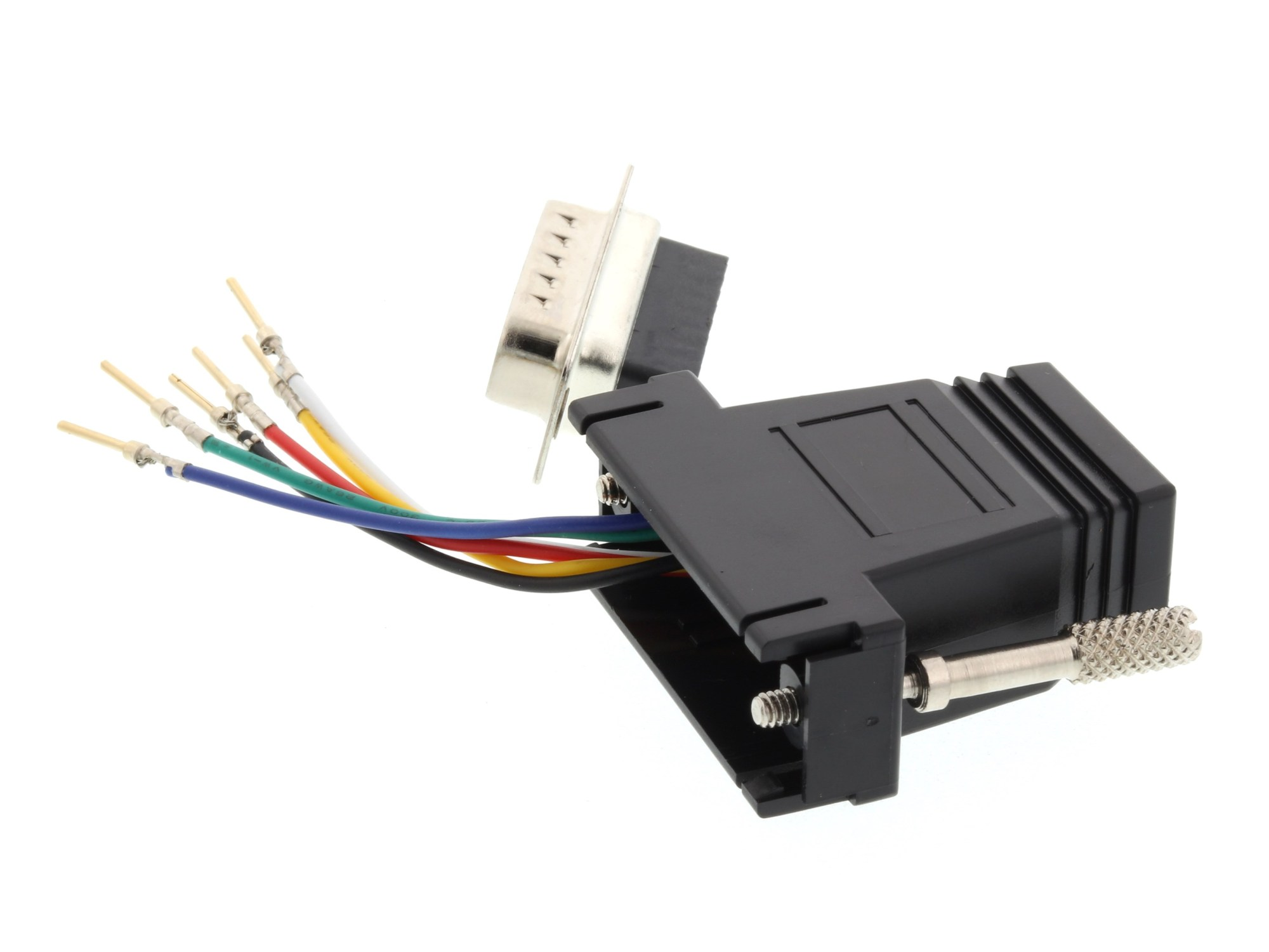 hight resolution of  picture of modular adapter kit db15 male to rj11 rj12 black