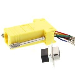 picture of modular adapter kit db9 female to rj45 yellow  [ 3200 x 2400 Pixel ]