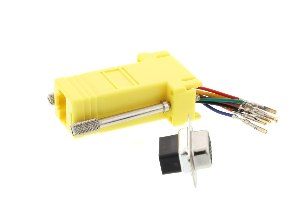 medium resolution of  picture of modular adapter kit db9 female to rj45 yellow