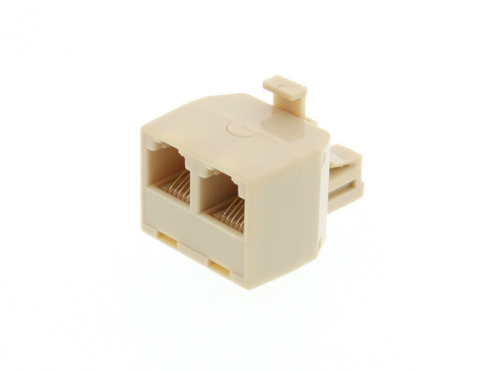 medium resolution of modular voice t adapter 1 male to 2 female rj11 6p6c for 6 wire rj11 connector voice wiring