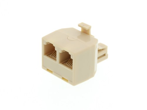 small resolution of modular voice t adapter 1 male to 2 female rj11 6p6c for 6 wire rj11 connector voice wiring