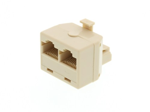 small resolution of modular voice t adapter 1 male to 2 female rj45 8p8c for 8 wire mix picture