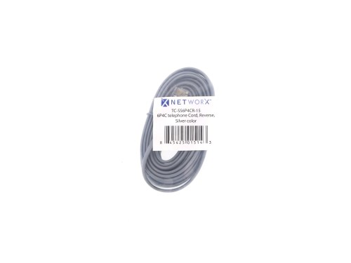 small resolution of  picture of rj11 4 conductor cross wired modular telephone cable 15 ft