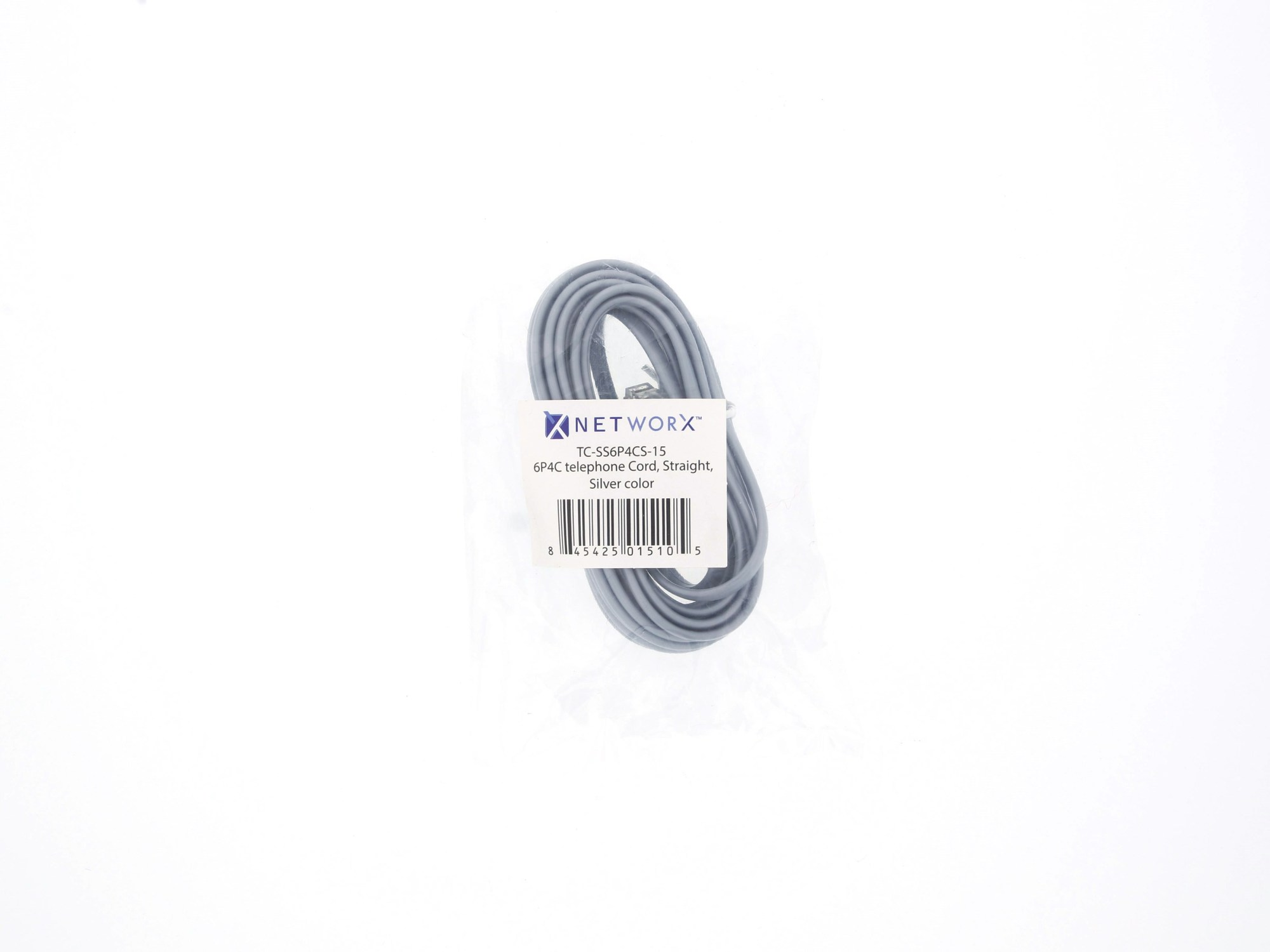 hight resolution of  picture of rj11 4 conductor straight wired modular telephone cable 15 ft