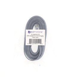 picture of rj11 4 conductor straight wired modular telephone cable 25 ft [ 3200 x 2400 Pixel ]