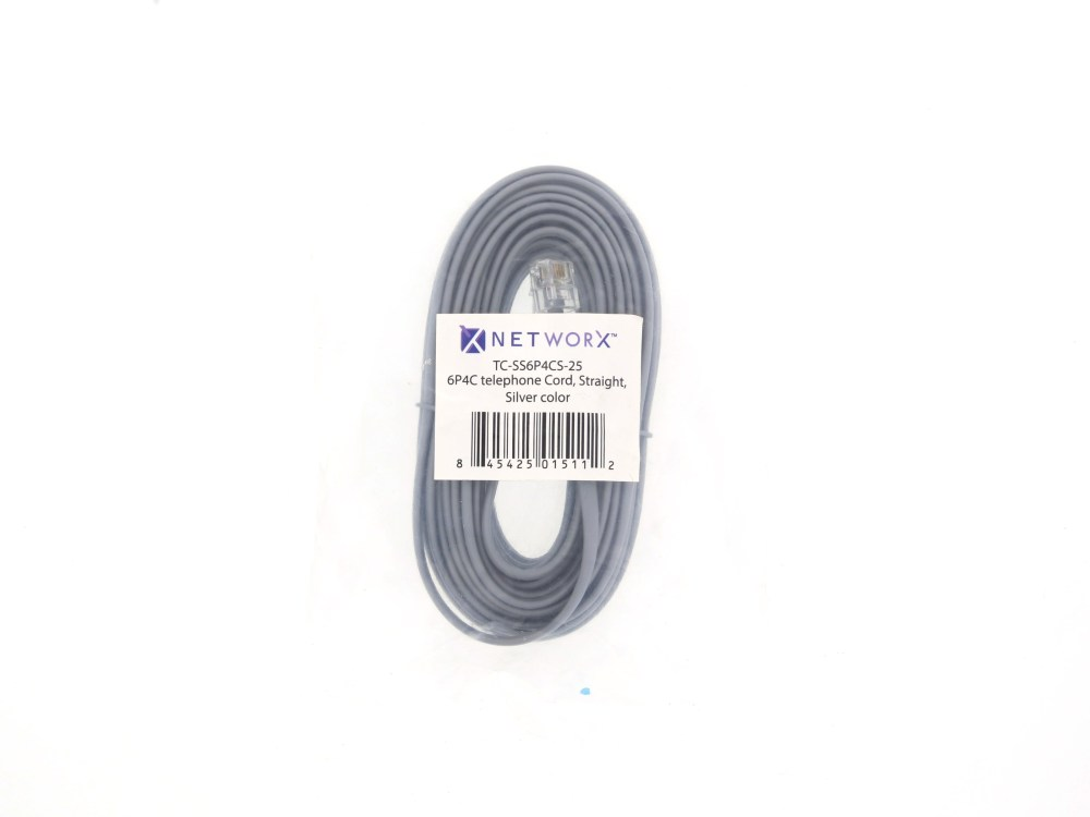 medium resolution of  picture of rj11 4 conductor straight wired modular telephone cable 25 ft