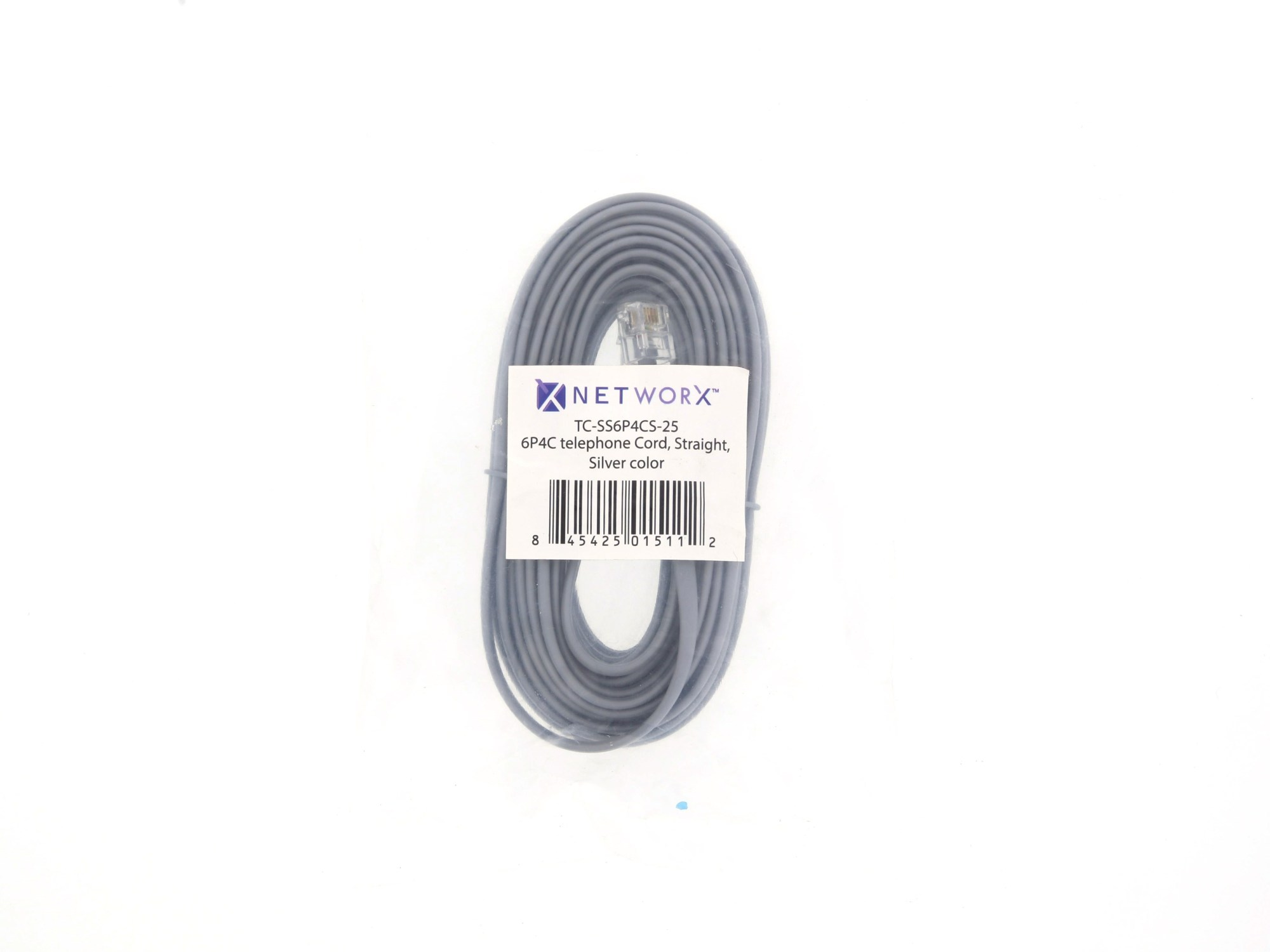 hight resolution of  picture of rj11 4 conductor straight wired modular telephone cable 25 ft
