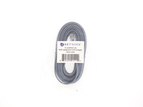 small resolution of  picture of rj11 4 conductor straight wired modular telephone cable 25 ft