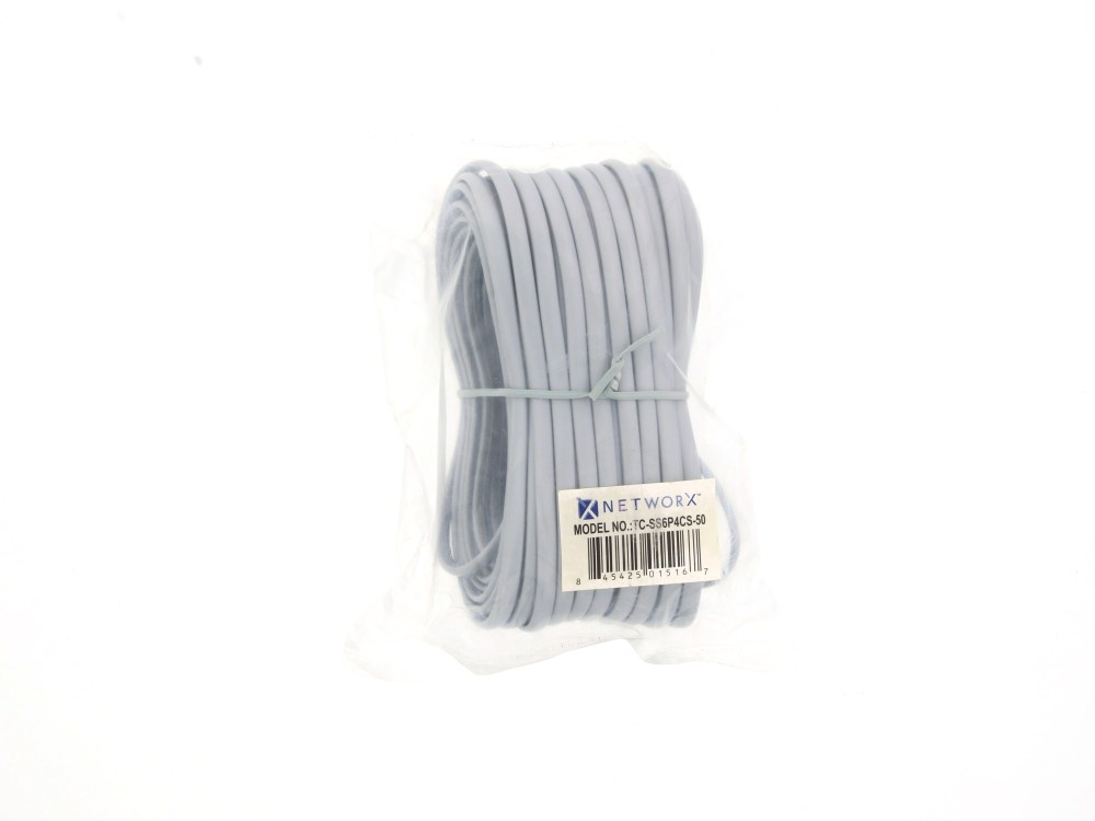 medium resolution of  picture of rj11 4 conductor straight wired modular telephone cable 50 ft