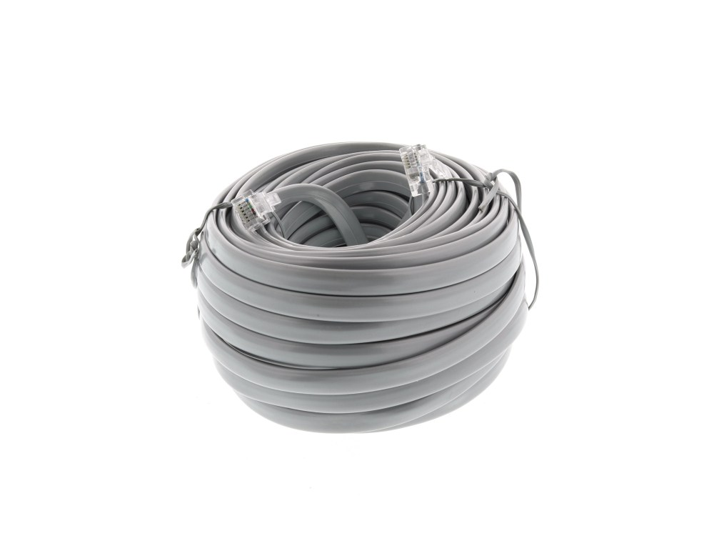 medium resolution of  picture of rj12 6 conductor cross wired modular telephone cable 50 ft