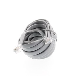 picture of rj12 6 conductor straight wired modular telephone cable 15 ft  [ 3200 x 2400 Pixel ]