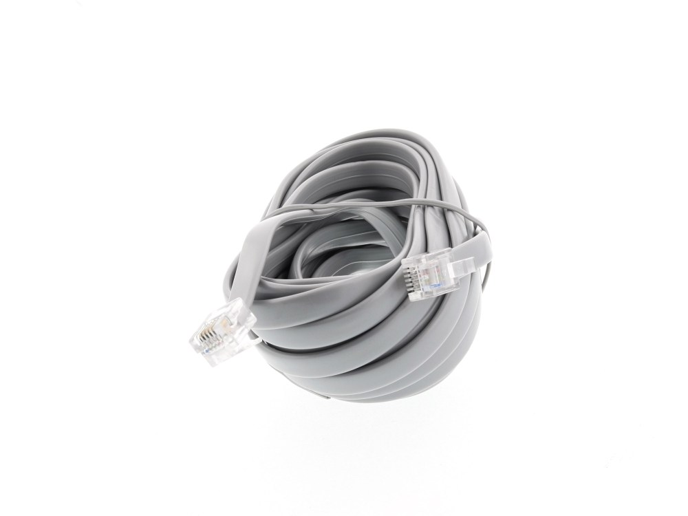 medium resolution of  picture of rj12 6 conductor straight wired modular telephone cable 15 ft