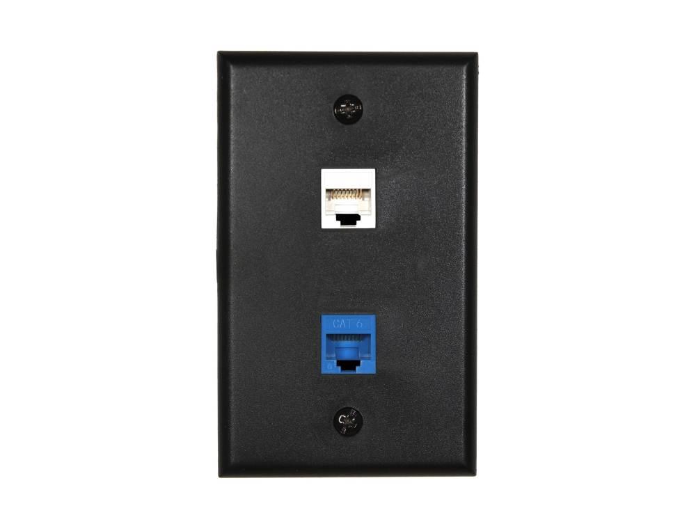 medium resolution of  picture of 2 port keystone faceplate single gang black
