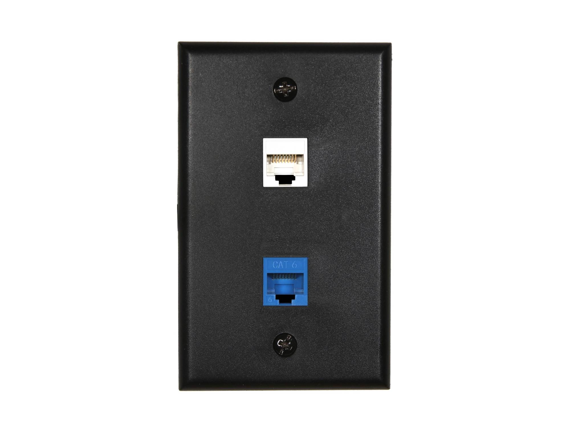 hight resolution of  picture of 2 port keystone faceplate single gang black
