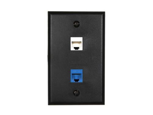 small resolution of  picture of 2 port keystone faceplate single gang black