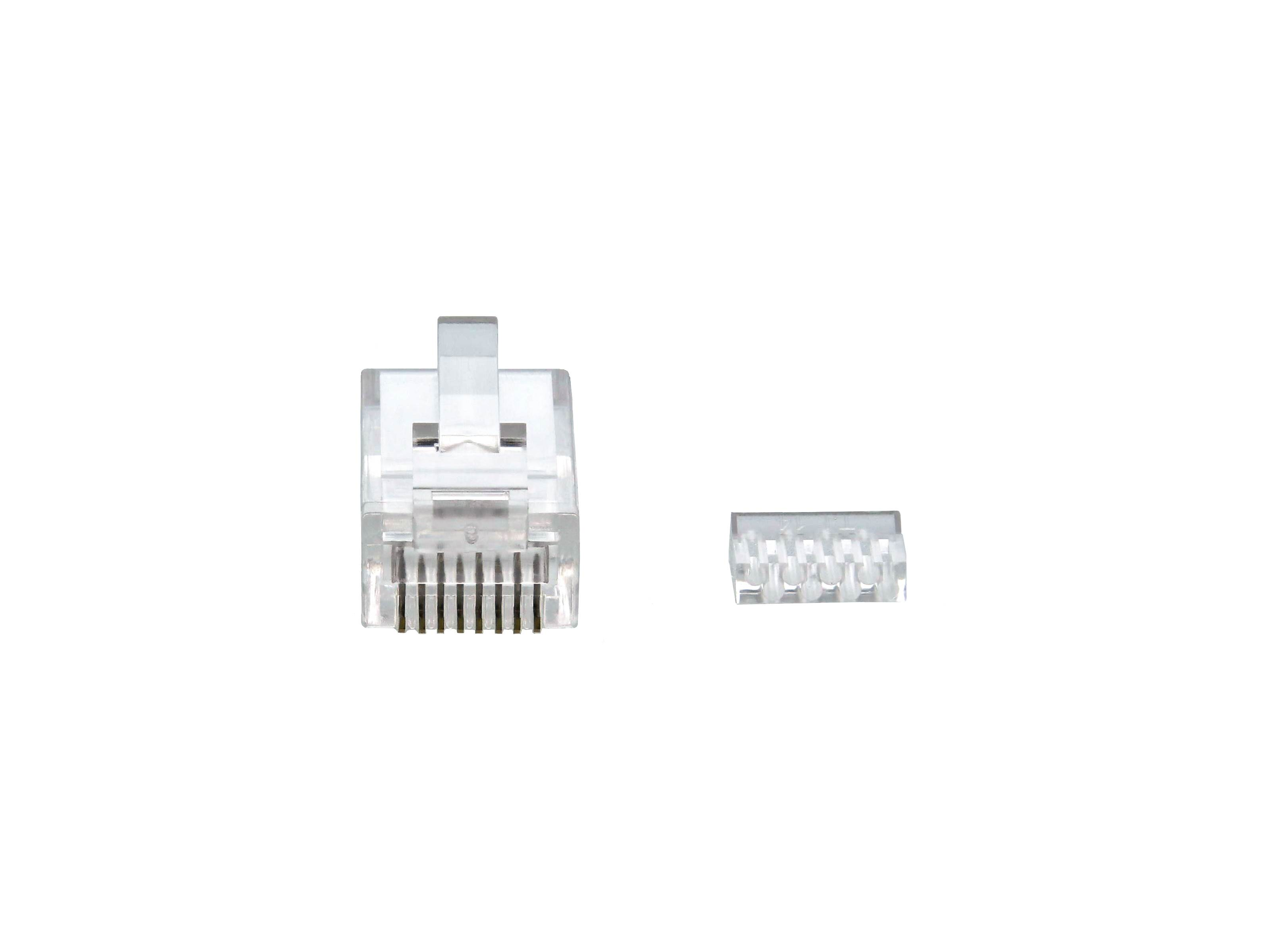 Cat6 RJ45 Modular Connector with Load Bars 100 Pack