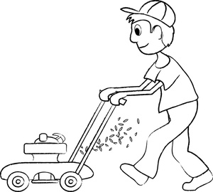 Free Kid Mowing Lawn Clipart Image 0515-1002-2520-2606