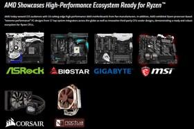 AMD展示高效能AMD Ryzen™ PC與AM4主機板產業體系