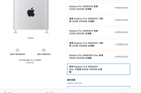 打造旗艦Mac Pro桌上型電腦有新選項!蘋果推出頂級雙Radeon Pro W6800X Duo工作站顯卡版本