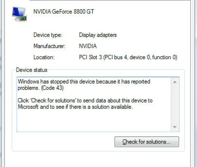 Device Manager Error Code 43