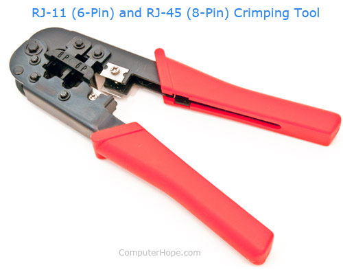 Crimping Tool For Telephone Wires Ethernet Cable Telephone Cord Wiring