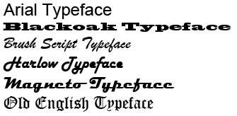 What is a Typeface?