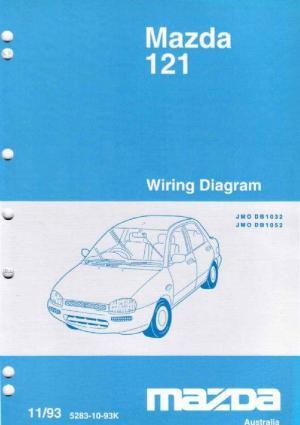 Mazda 121 (DB) Wiring Diagrams 1993 Factory Manual Supplement Mazda Australia