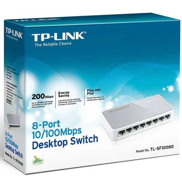 TP-Link 8-Port Fast Ethernet Desktop Switch (TL-SF1008D) - Pavan ...