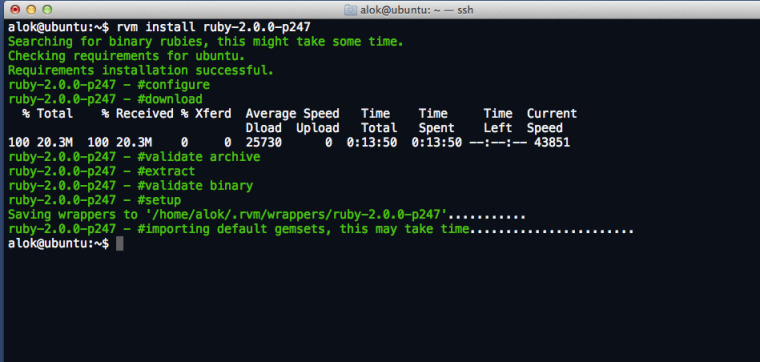 ruby installed