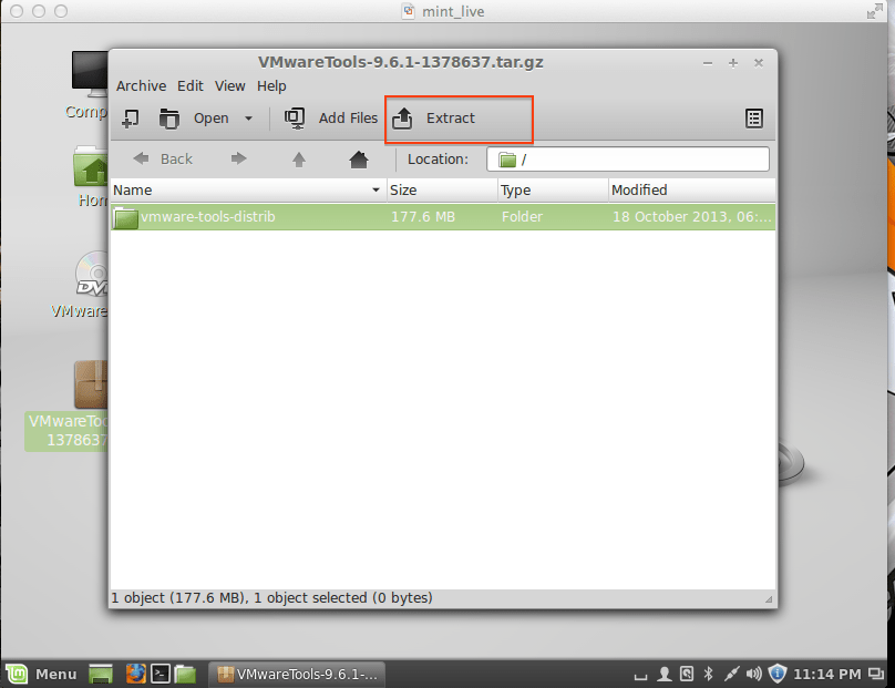 How to Install VMware Tools In Linux Mint 16 Guest Virtual