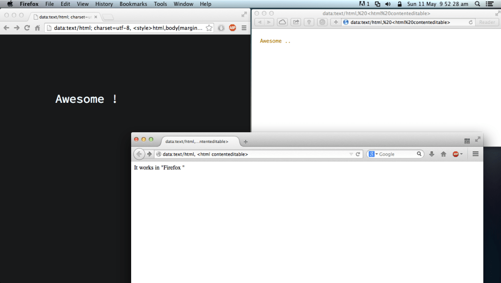 Browser as notepad