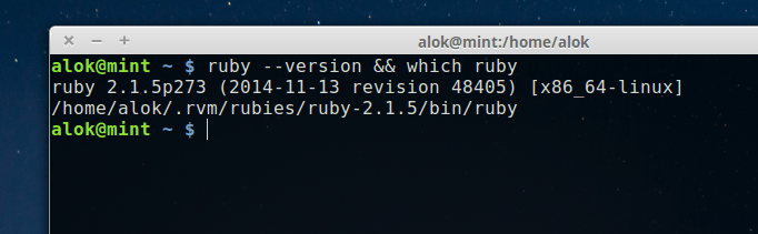 ruby in linux mint