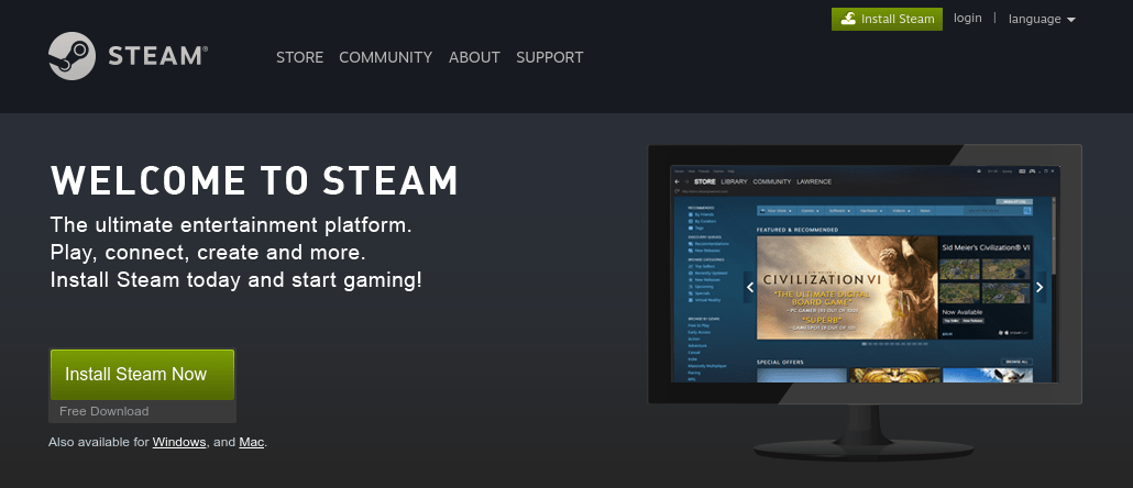 How to install and setup Steam client in Ubuntu 17 04