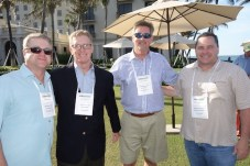 American Pharmacy Alliance's John Hobson, left, and Karl Steele, third from left, with John Vaughn, second from left, and Patrick Hawthorne from ConnectiveRx.