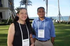 Geeta Borse, left, and Nirav Patel from BestRx Pharmacy Software.