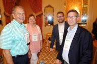 From left, QS/1's Sonny Anderson, Barb Carter from the Minnesota Board of Pharmacy PDMP, Chad Zadrazil from the National Alliance for Model State Drug Laws, and Nebraska Health Information Initiative's (NeHII) Kevin Borcher, who spoke on NeHII's lessons learned from requiring reporting of all prescriptions using the ASAP PMP standard.