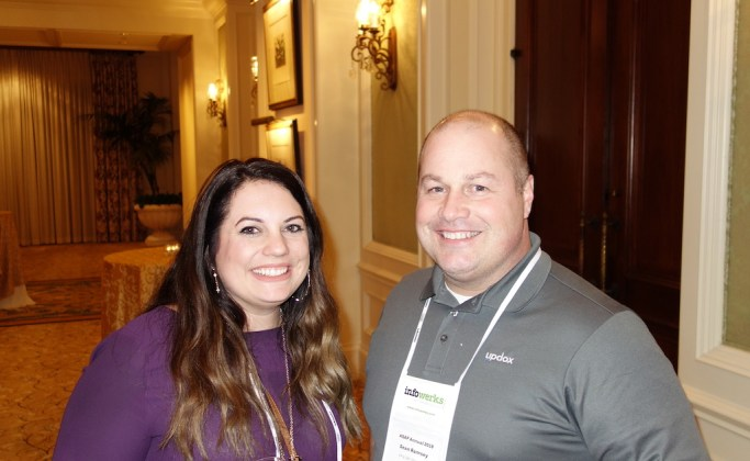 InfoWerks' Sondra Heffernan with Sean Ramsey from Updox.
