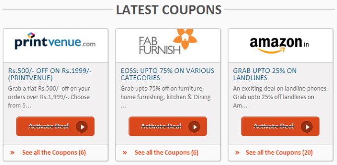 Latest coupons
