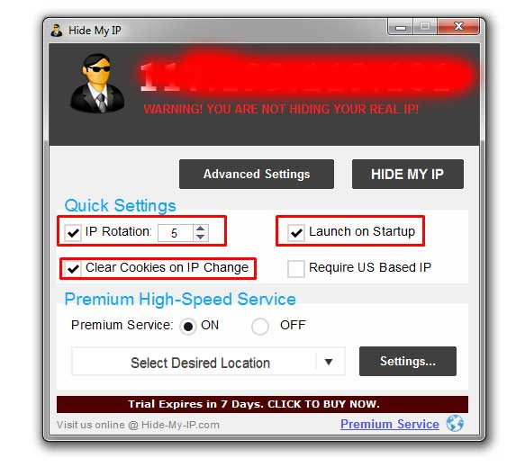 how to change online ip