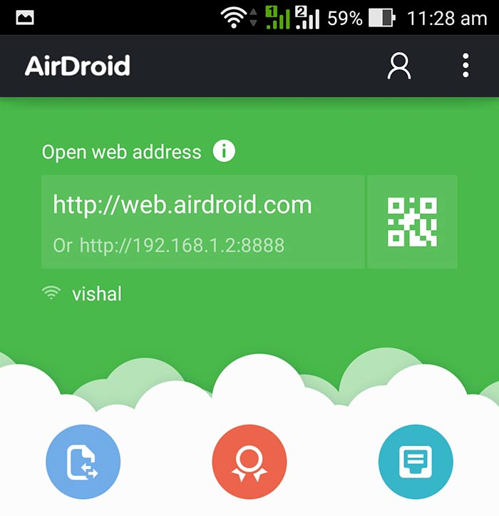 airdroid Web Address